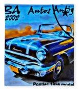 Cuba Antique Auto 1956 Catalina Fleece Blanket