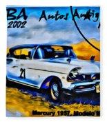 Cuba Antique Auto 1957 Mercury Monterrey Fleece Blanket