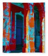Cuba Architecture Fleece Blanket