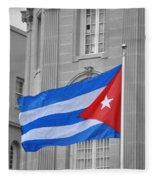 Cuban Flag Fleece Blanket