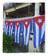 Cuban Flags Fleece Blanket
