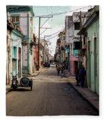 Cuban Street Fleece Blanket