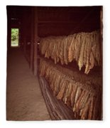 Cuban Tobacco Shed Fleece Blanket