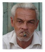 Cuba's Faces Fleece Blanket