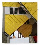 Cube Houses Detail In Rotterdam Fleece Blanket