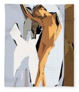 Cubism Series Xvi Fleece Blanket