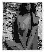 Cubism Series Xvii Fleece Blanket