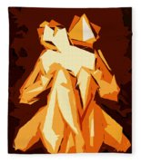 Cubism Series Xxii Fleece Blanket
