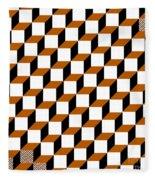 Cubism Squared Fleece Blanket