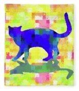 Cubist Cat Fleece Blanket