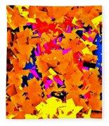 Cubist Tesseract Fleece Blanket