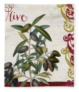 Cucina Italiana Olives Fleece Blanket