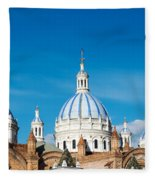 Cuenca Cathedral Domes Fleece Blanket