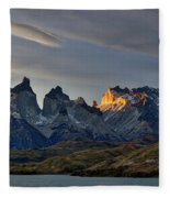 Cuernos Sunset Begins #4 - Patagonia Fleece Blanket
