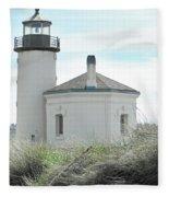 Coquille Lighthouse Fleece Blanket