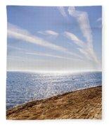 Cullercoats Pier Fleece Blanket