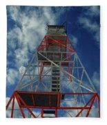 Culver Fire Tower Fleece Blanket