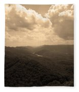 Cumberland Gap - Kentucky Sepia Fleece Blanket