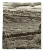 Cumbres Toltec Railroad Nm Sepia Dsc04065 Fleece Blanket