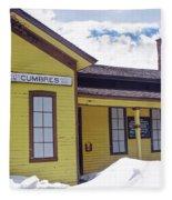 Cumbres Train Station Fleece Blanket