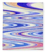 Cumulus Clouds And Blue Sky Abstract Fleece Blanket