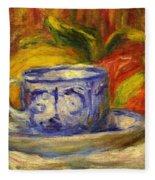 Cup And Fruit Fleece Blanket