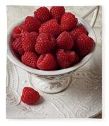 Cup Full Of Raspberries  Fleece Blanket