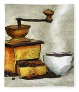 Cup Of The Hot Black Coffee Fleece Blanket