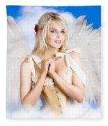 Cupid Angel Of Love Flying High With Fairy Wings Fleece Blanket