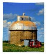 Cupola Grain Silo - Iowa Fleece Blanket