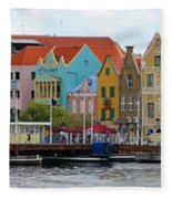 Curacao Willemstad Panorama Fleece Blanket