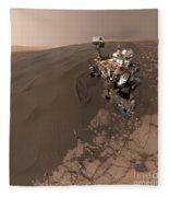Curiosity Rover Self-portrait Fleece Blanket