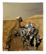 Curiosity Self-portrait At Windjana Drilling Site Fleece Blanket