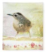 Curious Catbird Fleece Blanket