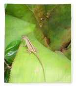 Curious Lizard I Fleece Blanket