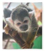 Curious Monkey Fleece Blanket