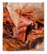 Curled Bark Fleece Blanket