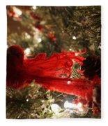 Curly Cardinal Fleece Blanket