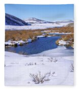 Currant Creek On Ice Fleece Blanket