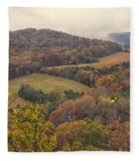 Current River Valley Near Acers Ferry Mo Dsc09419 Fleece Blanket