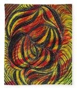 Curved Lines 2 Fleece Blanket