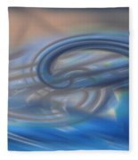 Curved Lines Fleece Blanket