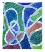Curved Paths Fleece Blanket