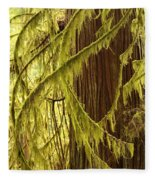 Curves In The Rainforest Fleece Blanket