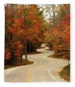 Curvy Fall Fleece Blanket