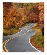 Curvy Road In The Mountains Fleece Blanket