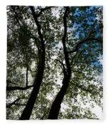 Curvy Trees Fleece Blanket