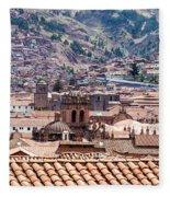 Cusco Cityscape Fleece Blanket