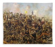 Custer's Last Stand From The Battle Of Little Bighorn Fleece Blanket