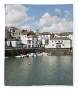 Custom House Quay And Falmouth Parish Church Fleece Blanket